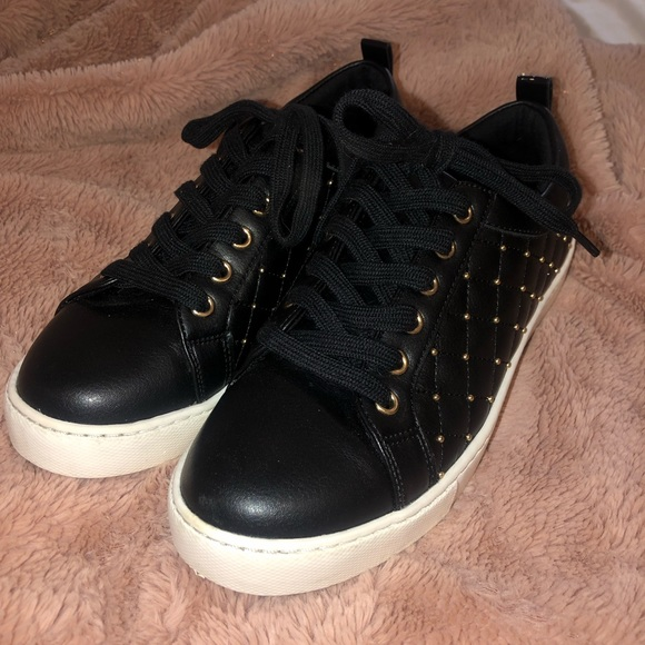 ALDO sneakers with gold studs! with original box!
